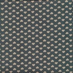 Afklip Patchwork i poplin i mørkegrøn med hjerter 50x55 cm.