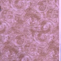 Patchworkstof batik med cirkler i pudder-beige