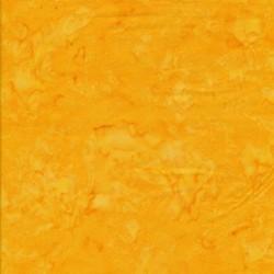 Afklip Patchworkstof batik i gul og solgul 50x55 cm.