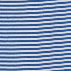 Stribet rib klar blå/knækket hvid