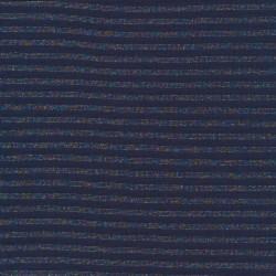 Stribet rib med lurex i blå multifarvet