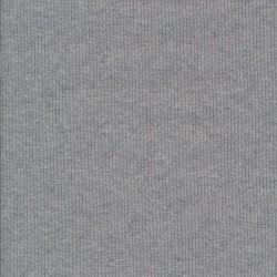 Rib/Ribstrikket jersey i lysegrå meleret, bredde 122 cm.