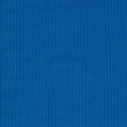 Rib/Ribstrikket jersey i turkis-blå, bredde 122 cm.