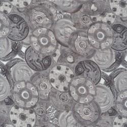 Stræksatin med skjolde i digitalprint