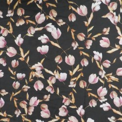 Satin med blomster i digitalprint