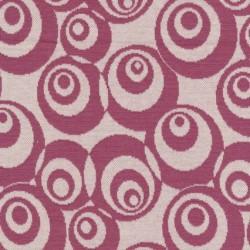 Rest Jacquard strik m/cirkler off-white/mørk rosa, 43 cm.