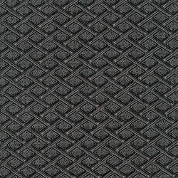 Kraftig jacquard strik med rudetern i grå og sort