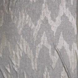 Ribstrikket i grå med guld tryk