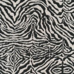 Jacquard strik i zebra look i koksgrå og knækket hvid
