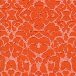Rest Strik med mønster i orange og hvid, 50 cm.