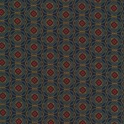 Rest Vinter jersey mønstret i marine petrol rust og okker- 50 cm.