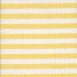 Ribstrikket meleret strik stribet i lys gul og hvid