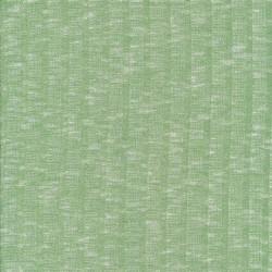 Ribstrikket meleret strik i lysegrøn og hvid