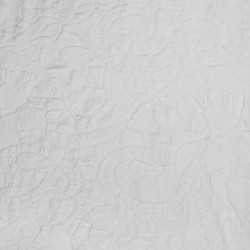 Jacquard Strik med mønster i hvid