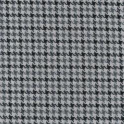 Strik med hanefjeds mønster i lysegrå, grå og sort