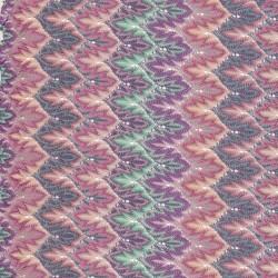 Let Strik med zigzag mønster og glimmer i rosa/aqua