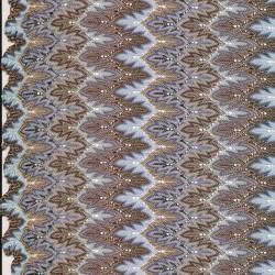 Let Strik med zigzag mønster og glimmer i lyseblå/brun