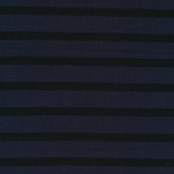 Stribet strik i støvet mørkeblå og sort