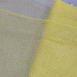 Brudetyl i carry-gul med små glimmer prikker