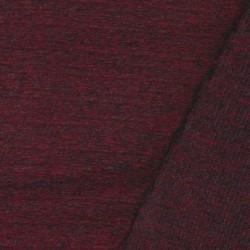 Filtet uld/strik, meleret mørk rød/grå