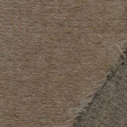Rest Filtet/strikket uld, beige meleret- 185 cm.