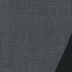 Dobbel uld m/hanefjed grå/sort