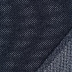 Tweed let mønstret i mørkeblå og lysegrå