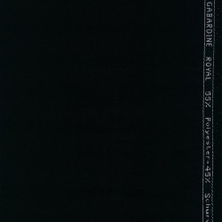 Twill-vævet uld-garbardine i sort