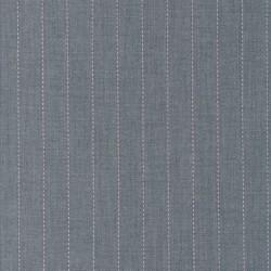 Uld/polyester m/stræk i lysegrå meleret med lyserød