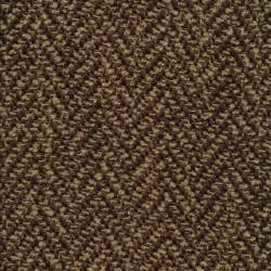 Boucle tweed i mega sildeben i mørkebrun og camel
