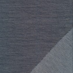 2-sidet 100% uld i lysegrå og blå meleret