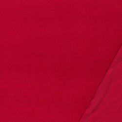 Fast Velour i bomuld, rød