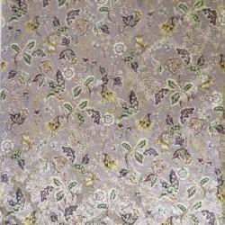 Spantex Velour med blomster i pudder-rosa, sort, offwhite