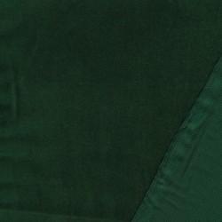 Fast Velour i bomuld, mørk grøn