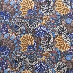 100% viskose stor-mønstret i blå sort beige