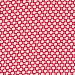 Let 100% viscose med prikker i rød hvid lyserød