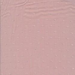 Let 100% viscose med prikker / mol i gammel rosa