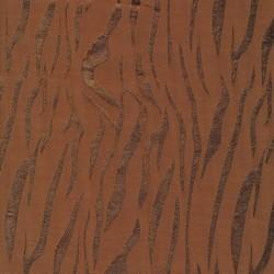 100% viscose jacquard i tabacco med blankt zebra striber