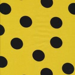 100% viscose i gul med sort bombe