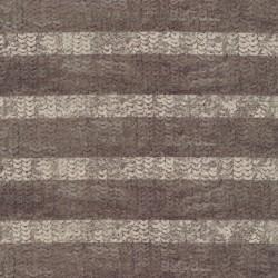 Viscose/lycra m/digitalt print stribet i palliet-look, sand off-white