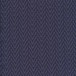 Viscose jersey i mørkeblå og denim med V-mønster