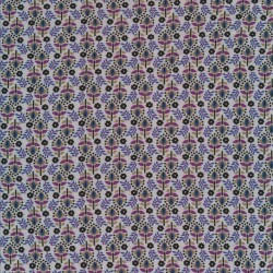 Rest Viscose jersey i lys grå-blå med blomster, 53 cm.