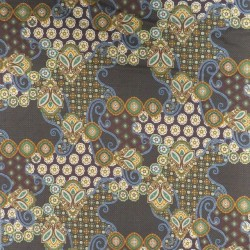 Viscose jersey stormønstret i brun carry denim