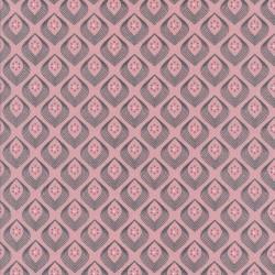 Jersey i Viscose i rosa med lille mønster