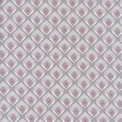 Jersey i Viscose i lysegrå med lille mønster