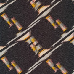 Jersey i Viscose elasthan i mørkebrun med mønster på skrå