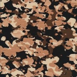 Viscose Jersey mønstret i sort, brun, pudder, beige