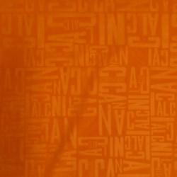 Windbreaker i orange med bogstaver