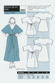 Onion 2083- Kimono slå om-kjole