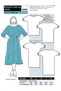 Onion 2089 -Butterfly kjole og tunika